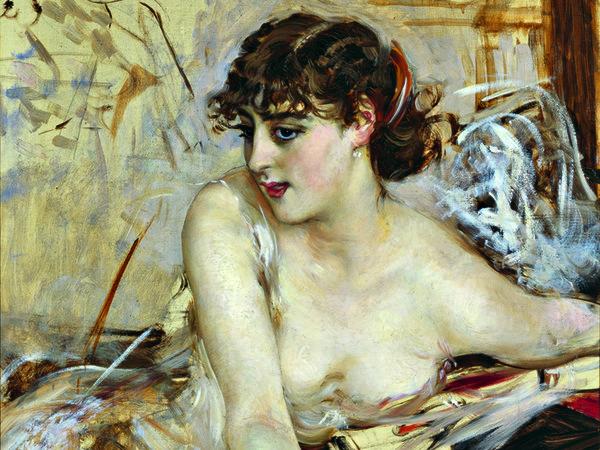 Giovanni Boldini, La contessa de Rasty allo scrittoio (Lettera mattutina), 1884 circa