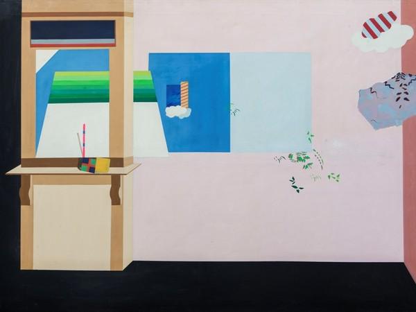 Luciano Zarotti, <em>La stanza</em>, 1974, Tempera magra su tela, 200 x 175 cm<br />