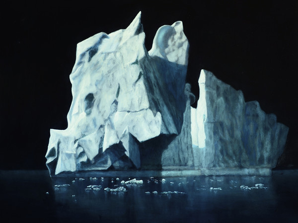 Carlo Ferrari, Grande Iceberg 2, 2018, olio su dibond, cm. 70x70