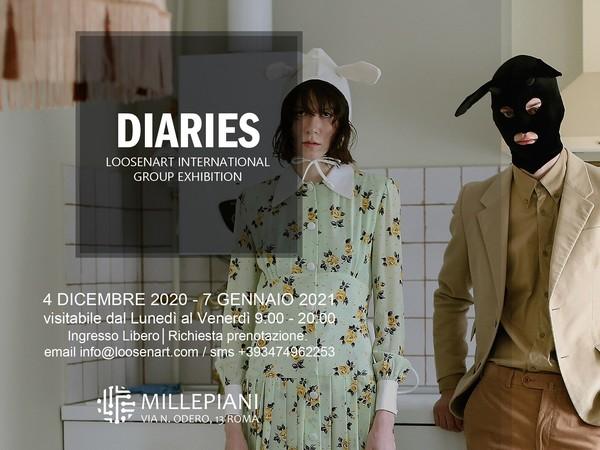Diaries, group exhibition, Millepiani, Roma
