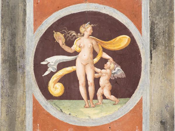 Giulio Romano e allievi, Venere allo specchio e Amore Volta del Camerino di Venere 1527, affresco. Mantova, Palazzo Te I Ph. Pontiroli