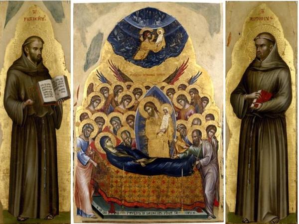 Dormitio Virginis e i santi Francesco e Antonio da Padova