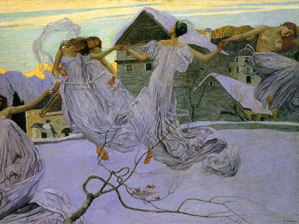 Carlo Fornara, Da una leggenda alpina, olio su tela 72 x 101 cm