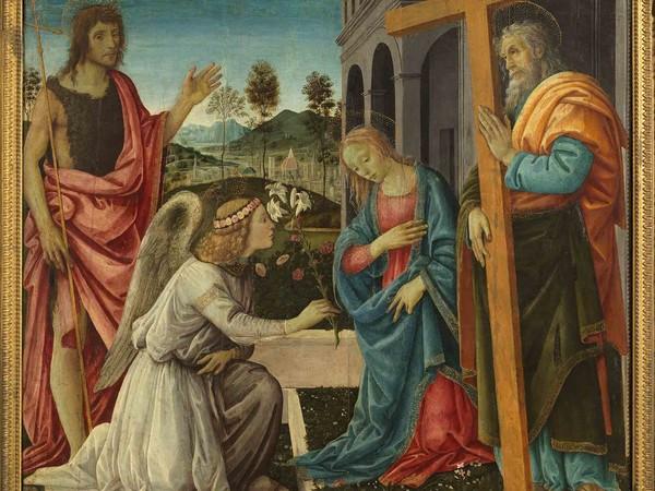Filippino Lippi, Annunciazione e Santi, 1485, Museo e Real Bosco di Capodimonte
