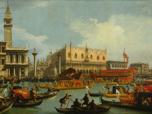 Canaletto, Il ritorno del Bucintoro al molo davanti al Palazzo Ducale, 1727-1729, Olio su tela, 259 x 182 cm Mosca, Museo Puškin