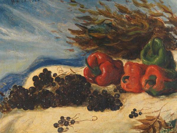 Giorgio De Chirico, Natura morta, 1930 ca., olio su tela. Firenze, Galleria d'arte moderna di Palazzo Pitti