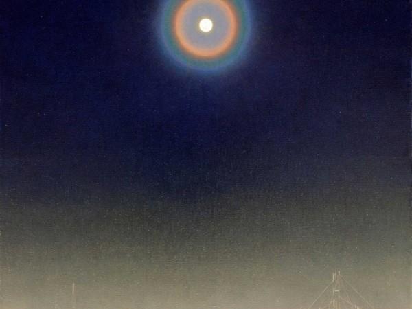 Giuseppe Puglisi, I giorni della neve e della luna, 2013-2014, olio su tela, cm 80x60. Collezione privata