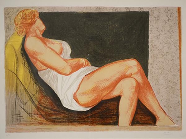 Achille Funi, Nudo femminile, litografia