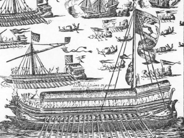 """<em>Il Bucintoro</em>, Da una copia della Folger Shakespeare Library da """"Habiti d'huomeni et donne venetiane"""" di Giacomo Franco, 1610 circa<br />"""