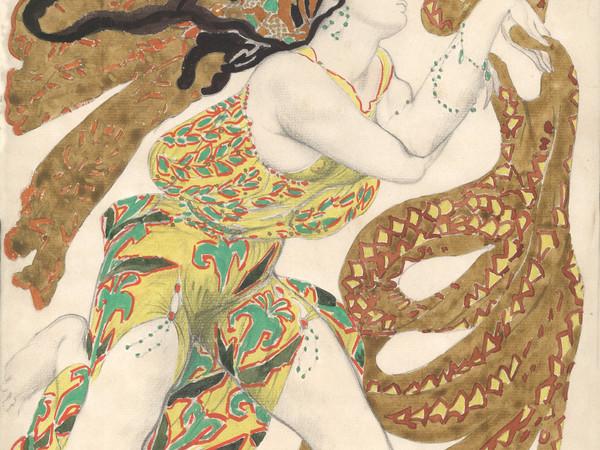 Léon Bakst, figurino per Narcisse, Ballets Russes, coreografia di Michel Fokine, Parigi, 1911