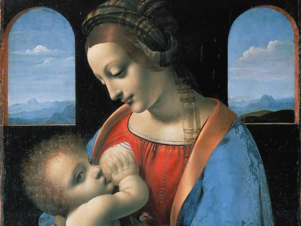Leonardo da Vinci (1452 - 1519), Attribuzione, <em>Madonna Litta</em>, Metà anni '90 del XV secolo, Olio su tavola trasferito su tela, 33 x 42 cm, Museo Statale Ermitage, San Pietroburgo<br />