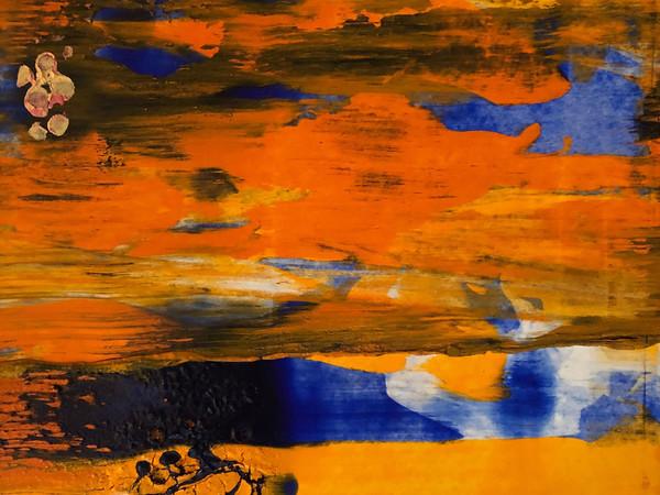 Giovanni Frangi, River II, 2019, pigmenti e primal su carta, cm. 45x35