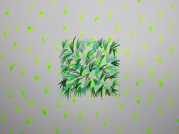 Valentina Colella, en plein _ air, pigmento e acqua su carta, (6x) cm. 50x70, 2018