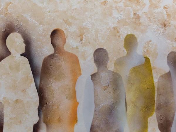Renato Mambor, 22 Settembre, 2014, smalto, acrilico su cartone, 72x103