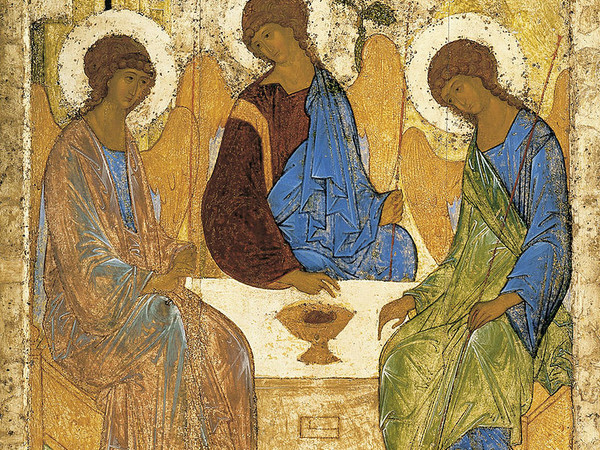 Andrej Rublëv, Trinità, 1420-30, Galleria Tret'jakov, Mosca