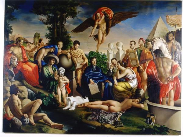 Carlo Maria Mariani, La costellazione del Leone, 1981, olio su tela, cm. 340x450. Roma, Galleria Nazionale d'Arte Moderna e Contemporanea