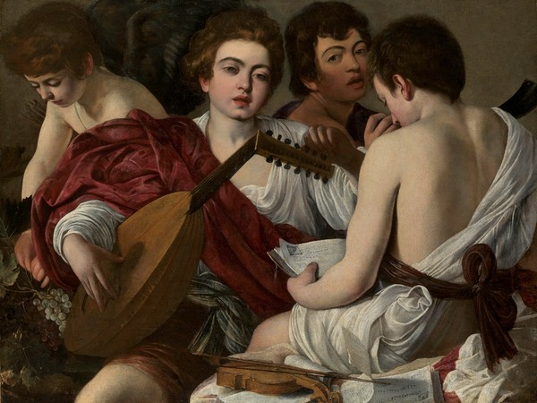 Michelangelo Merisi, detto il Caravaggio, I musici, 1597, 92x118,5 cm. New York, The Metropolitan Museum of Art