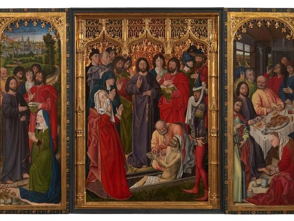 Nicolas Froment, Episodi della Vita di Cristo e Resurrezione di Lazzaro, olio su tavola. Firenze, Gallerie degli Uffizi