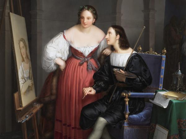 Felice Schiavoni, <em>Raffaello che ritrae la Fornarina</em>, 1834, olio su tavola, 52.8 x 69.8 cm, Brescia, Pinacoteca Tosio Martinengo<br /><br />