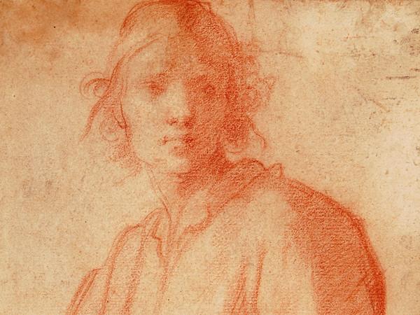 Matteo Rosselli. Studio di figura di giovinetto, sanguigna su carta
