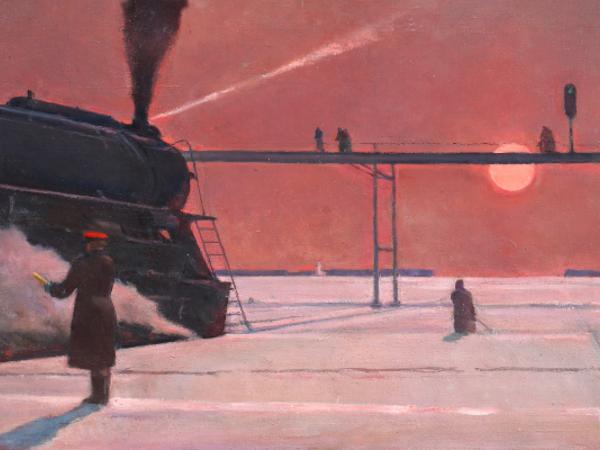 Georgy G. Nissky, En route, 1934. Institute of Russian Realist Art