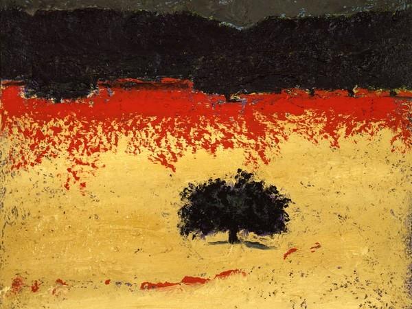 Carlo Mattioli, <em>Paesaggio d'estate</em>, 1981, Olio su tela, 63 x 64 cm, Collezione privata | Courtesy of Labirinto della Masone, Fontanello, Parma
