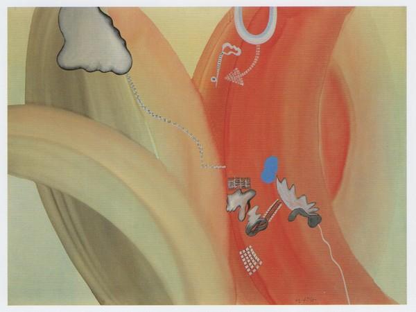 Sergio Dangelo, L'amore di Isotta, 1962, smalto su tela, cm 120x160. Fondazione Mudima