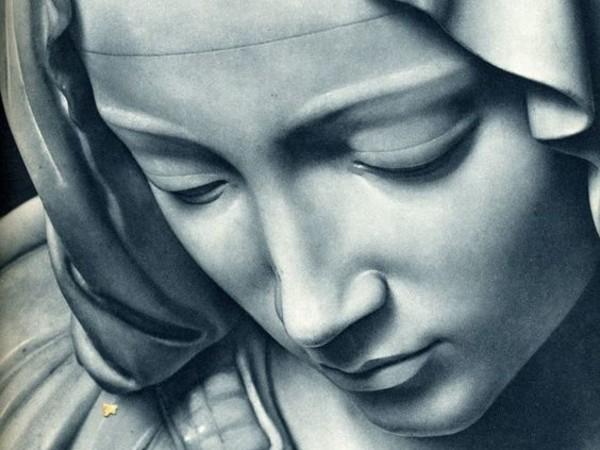 Calco del volto della Madonna, appartenente alla Pietà di Michelangelo esposta in Vaticano