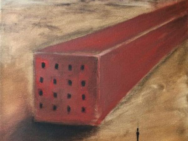 Olmo Gasperini, Silenzio II, 2019, olio su tela, cm. 50x40
