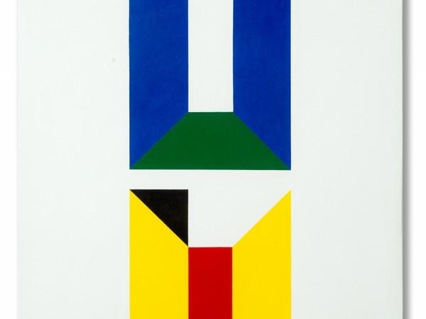 Reale F. Frangi, Forme geometriche, 1971, acrilico su tela, cm 60x60