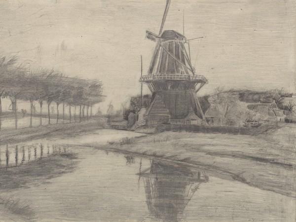 Vincent van Gogh, Mulino a vento su un canale, Agosto - Settembre 1881, Otterlo Museum