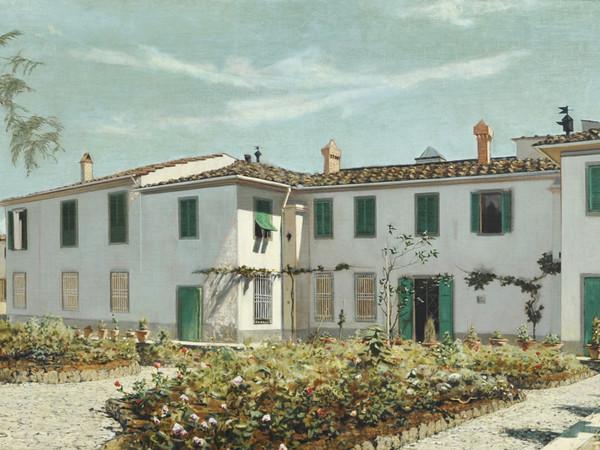 Telemaco Signorini, Villa Toscana, 1872-1874, olio su tela, cm. 61x116