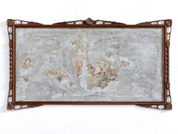Leonardo Meoni, <em>Concrete tapestry</em>, 2019, Cemento su arazzo gobelin, 246 x 140 cm | Courtesy of Zerial Art Project