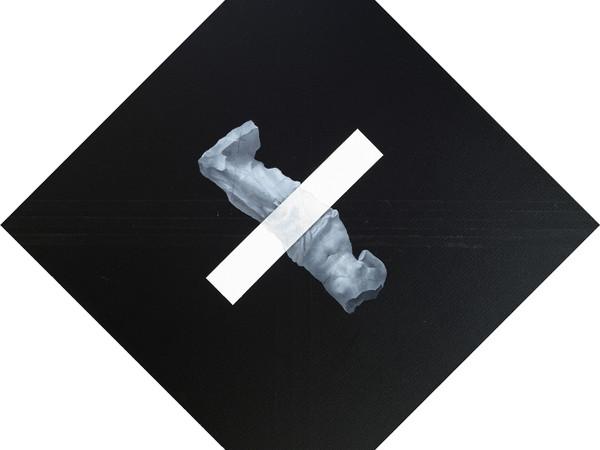 Hai Chen Structure, 20201101. Acrylic on canvas, 80x80 cm, 2020