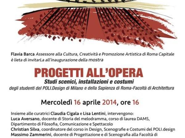 Progetti all 39 opera studi scenici installazioni e costumi for Poli design milano