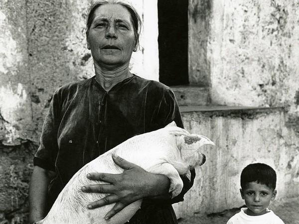 Lisetta Carmi, Irgoli, donna con il maialino,1962