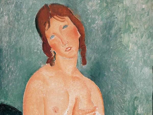 Amedeo Modigliani (Livorno,1884 - Parigi, 1920), Giovane donna in camicia, 1918 | © The Albertina Museum, Vienna, The Batliner Collection