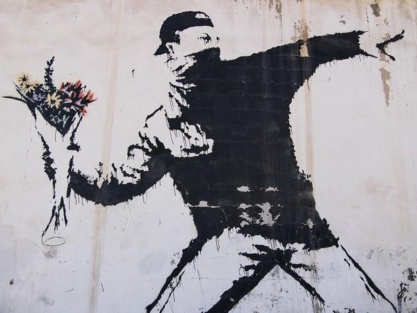 Banksy, <em>The Flower Thrower</em>