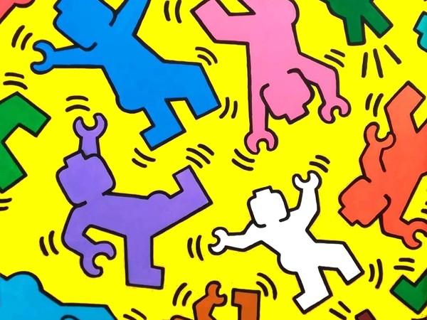 Stefano Bolcato, <em>Brick Having</em>, da Keith Haring (1958 -1990), acrilico su tela, cm. 60x60
