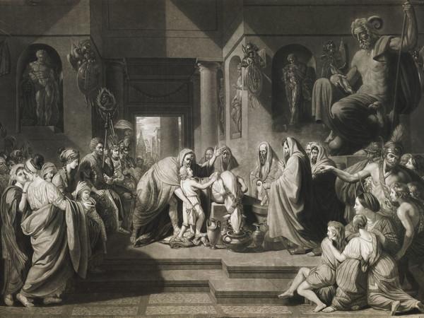 Il giuramento, acquaforte da Brescia
