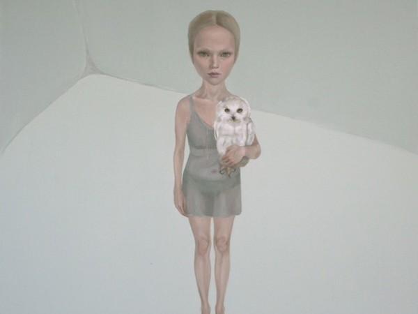 Ludmila Kazinkina, L'acino del tempo - nella vite dello sguardo, 2011, olio su tela, cm. 185x190