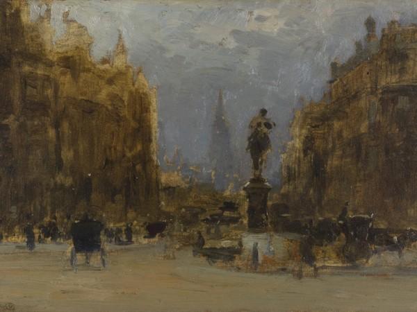 Guglielmo Ciardi, Londra - Impressione, 1910, Olio su tavola, 29 x 19.5 cm, Fondazione Musei Civici di Venezia, Galleria Internazionale d'Arte Moderna di Ca' Pesaro