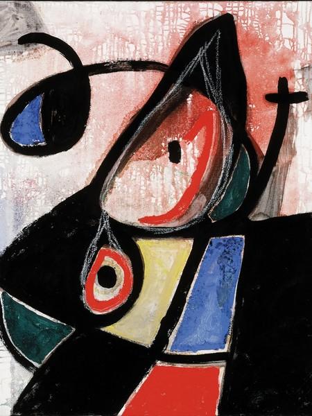 Joan Miró, Senza Titolo, n.d., olio e gesso su tela, 92x73 cm