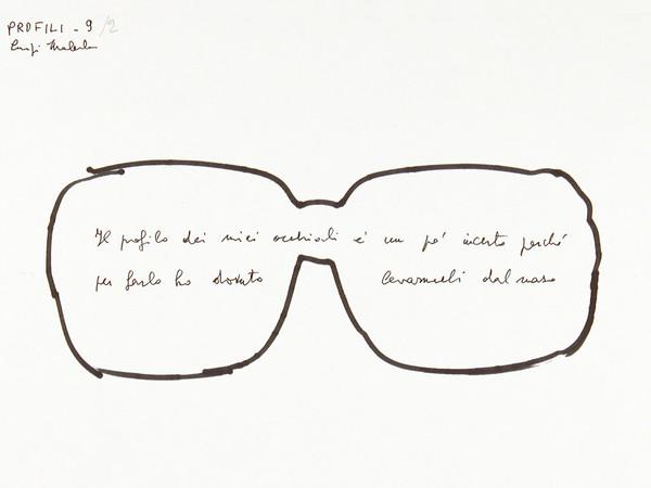 Luigi Malerba, Profili, 9/2, 1985, pennarello e inchiostro su carta, 147 x 209 mm. Collezione Galleria Civica di Modena