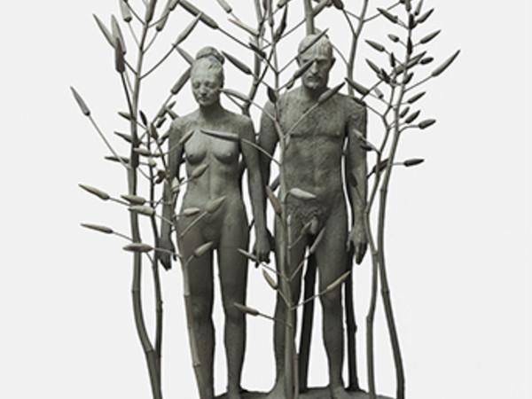 Giuseppe Agnello, Palude, Composizione 4, 2018, resina poliestere, legno e polistirolo, cm. 140x270x100