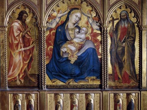 Taddeo di Bartolo, Madonna col Bambino, San Giovanni Battista e Sant'Andrea, 1395. Budapest, Szépművészeti Múzeum