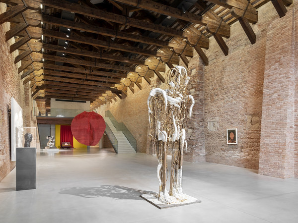 Thomas Houseago, Beautiful Boy, 2019. Installation View 'Untitled, 2020. Three perspectives on the art of the present' at Punta della Dogana, 2020  I Ph. Marco Cappelletti