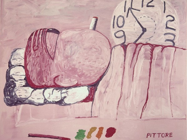 Philip Guston, <em>Pittore</em>, 1973, Olio su tela, 204.47 x 184.78 cm, Collezione privata | © The Estate of Philip Guston | Courtesy of Houser & Wirth<br />