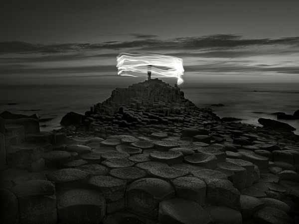 Ugo Ricciardi, Nightscapes, Giant's Causeway and figure, Northern Ireland, 2018