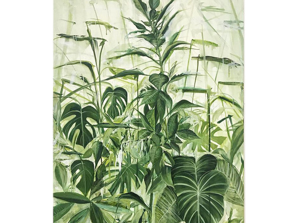 Antonio Bardino, Domestic landscape, 2020, olio su tela, 100 x 70 cm.